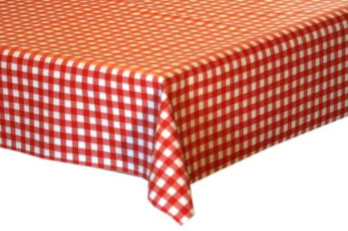 Mein-Haushalt24 Wachstuch Tischdecke klein-kariert rot-Weiss 100x140cm