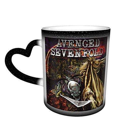 Taza que cambia de color Avenged Sevenfold Taza que cambia de color Gran diseño de taza de café Taza de cerámica sensible al calor Taza que cambia de color en el cielo