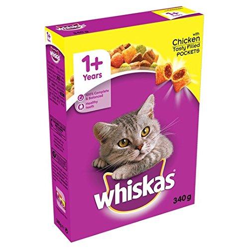 Whiskas 1+ gatto completo secco con pollo 340g