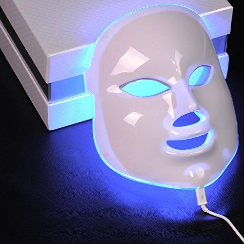 Genius Factory ® 7 Colores Luz fotón Led Máscara Facial Skin Rejuvenecimiento de terapia de belleza