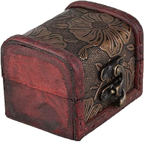 SYCK Caja de Almacenamiento de Joyas Caja de exhibición de Joyas Collar Pulsera Anillos Organizador de Almacenamiento Caja de Almacenamiento de Madera