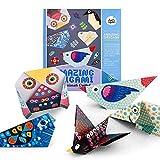 Kit Origami enfants colorés Origami incroyable, 28 papiers recto-verso livre pédagogique ensemble d'activités artisanales pour les enfants débutants et les leçons d'artisanat scolaire