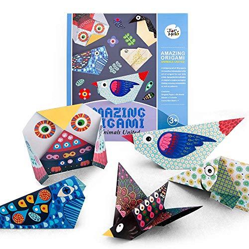 Origami colorati per bambini Kit Origami, 28 documenti Origami fronte-retro Libro di testo Attività didattica per bambini Principianti Formazione e lezioni di artigianato scolastico