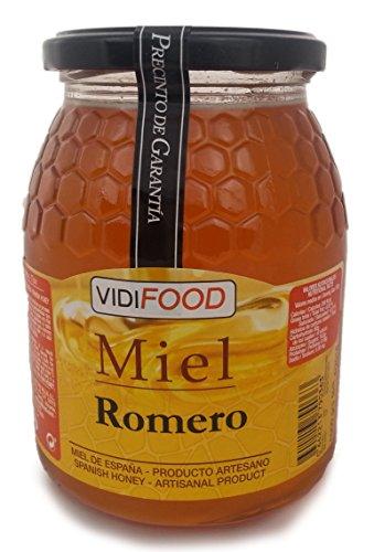 Miel de Romero - 1kg - Producida en España - Alta Calidad, tradicional & 100{7e5398d7e6111ff7eb05890de840bd461d42d64d92c34f34514c0c25f892eb23} pura - Aroma Floral y Sabor Rico y Dulce - Amplia variedad de Deliciosos Sabores