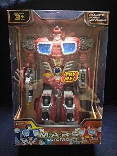 autotron M.A.R.S Cybotronix Motorized Walking Light Up Large Robot with Digital Electronic Voice with Different Sound Effects, Removable Weapon New in Unopened Box