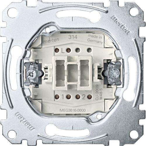 Merten MEG3616-0000 Aus/Wechselschalter-Einsatz, 1-polig, 16 AX, AC 250 V, Steckklemmen