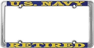TAG FRAMES (MILITARY) US Navy Retired License Plate Frame, Thin Rim