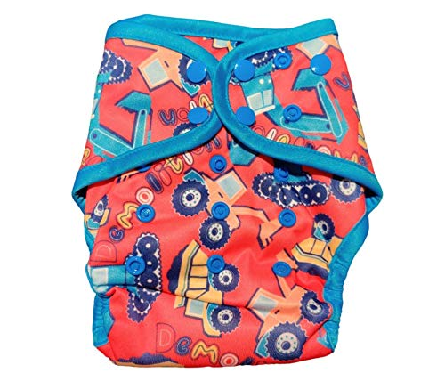 InfiniT AIO Overnight Cloth Diaper(One Size Fits 5-15 Kgs) (Bumdozer)