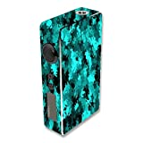 Decal Sticker Skin WRAP Aqua Camo Custom Art for Sigelei 150W