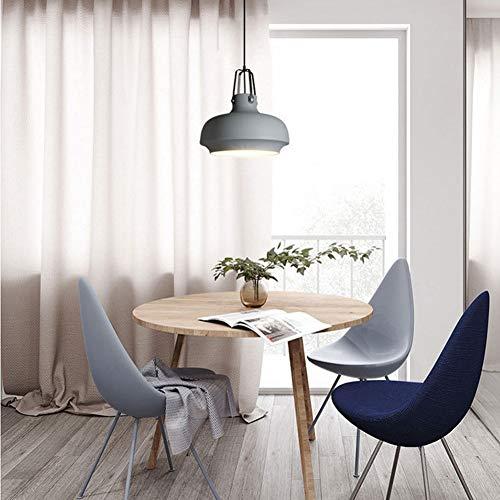 GWM Coloré Macaron Pendentif Lampe Nordic Macarons Couleur Creative Lustre Moderne Simple Lustre Chambre d'enfants Magasin de vêtements Bar Chambre Lustre E27 (Couleur : Gray, Taille : 25cm)