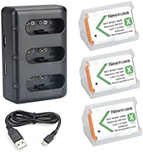 NP-BX1 Newmowa Replacement Battery (3-Pack) and 3-Channel USB Charger Set for Sony NP-BX1 and Sony Cyber-Shot DSC-RX100,DSC-RX100 II,DSC-RX100M II,DSC-RX100 III,DSC-RX100 IV,DSC-RX100 V,DSC-RX100 VII
