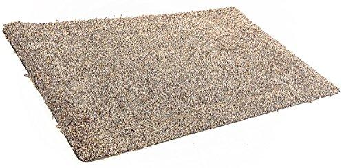 Tesar Magic Alfombra Felpudo Antideslizante Impermeable Entrada, 75X45 cm, Apta Lavadora, Retiene Totalmente Suciedad y Humedad. (Marron)