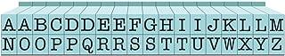 Contact USA Upper Alpha Small 36ct Pegz Upperase Alphabet Stamp Set, Pool Blue
