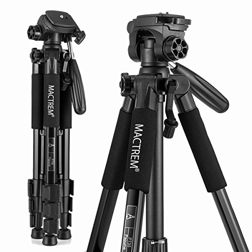 Mactrem PT55 Travel Camera Tripod Lightweight Aluminum for DSLR SLR Canon Nikon Sony Olympus DV with Carry Bag -11 lbs(5kg)...