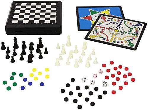 Juego - Travel Game I Gioco società per Bambini/Prima Infanzia I Confezione con 9 Giochi da Tavolo Magnetici I Giochi da Viaggio Portatili - Magnetici