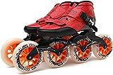 Haojie Chaussures de Patinage à roulettes Adultes Chaussures de Patinage de Vitesse Racing Enfants Speed Patinage Chaussures en Fibre de Carbone Grande Vitesse Vitesse,C,44