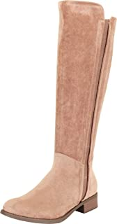 Stretch Chunky Block Low Heel Riding Knee-High Boot