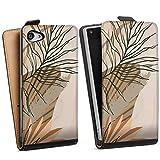DeinDesign Étui Compatible avec Sony Xperia Z5 Compact Étui à Rabat Étui magnétique Abstrait...