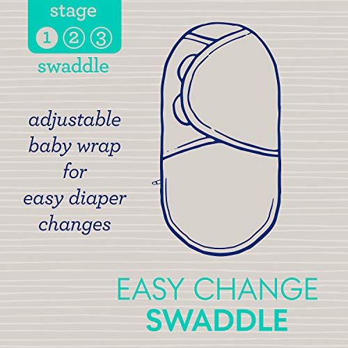 SwaddleMe Easy Change Swaddle – Size Small/Medium, 0-3 Months, 3-Pack (Peekaboo Panda)