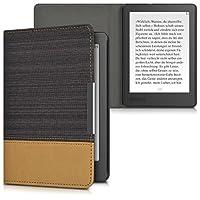 kwmobile 対応: Kobo Aura Edition 2 ケース - キャンバス 電子書籍カバー - オートスリープ reader 保護ケース