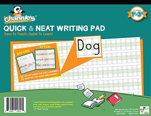 Channie's PHG6 Visual Handwriting Worksheet for 1st - 3rd Grade | Handwriting Simplified! Most Visual Handwriting Learning Workbook Worksheet for Summer School Summer Bridge