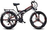 Bicicleta eléctrica Montaña plegable de la bici eléctrica de 26 '/ 24' Bicicleta de montaña, frontal y dobles de choque posterior absorción tres modos de trabajo for los adultos Ciudad De trayecto cic