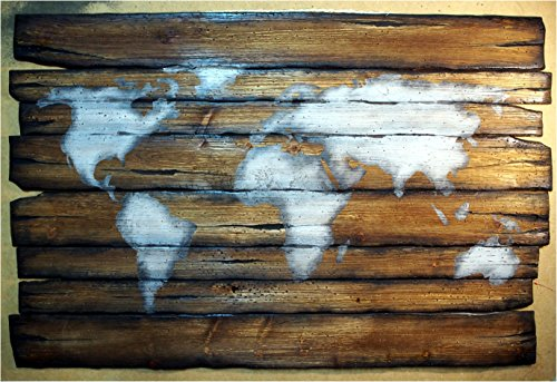 World Map | Rustic Decor | Handmade Worn out Wood Sign | Wall Art Map | Wall Decor