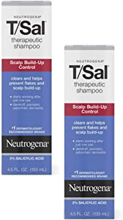Neutrogena T/Sal Therapeutic Shampoo for Scalp Build-Up Control with Salicylic Acid, Scalp Treatment for Dandruff, Scalp P...