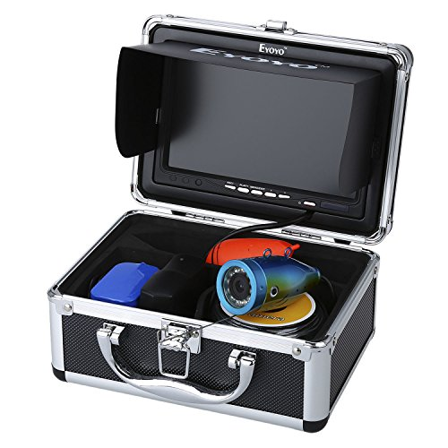 "Eyoyo Original 50M 1000TVL HD CAM Professional Fish Finder Underwater Fishing Video Recorder DVR 7"" Color Monitor Infrared IR LED Lights with 8GB SD Card"
