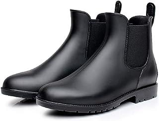 Mini Balabala Bottes Pluie Chelsea Femme Homme Imperméable Caoutchouc Jardin Bottines Chaussures Ankle Wellington Boots