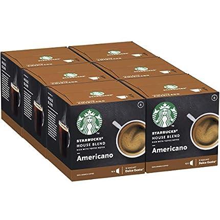 STARBUCKS House Blend De Nescafe Dolce Gusto Cápsulas De Café De Tostado Medio 6 X Caja De 12Unidades