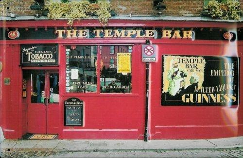 Buddel-Bini Versand Blechschild Nostalgieschild Guinness Bier The Temple Bar Schild Kneipenschild