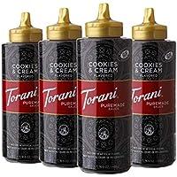 4-Pack Torani Cookies & Cream Puremade Sauce, 16.5 oz