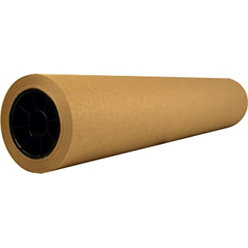 """Recycled Natural Brown Kraft Paper Roll │ 18"""" x 200' (2,400 inches) │ Made in USA from 100% Recycled Materials │Perfect for Any Use – Wrapping, Shipping, Table Runner, Floor Covering, Banners and Signs"""