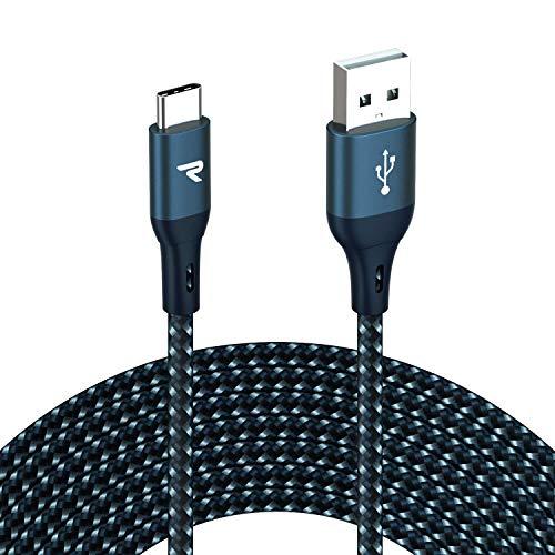 RAMPOW Cable USB Tipo C Cable USB C 3A Carga Rápida Cargado