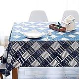 xiaopang Mantel de estilo redondo para mesa circular, a prueba de polvo de algodón y lino para mesa de buffet, fiestas, cena de día festivo, 140 x 250 cm