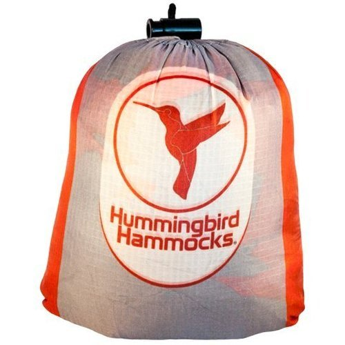 Hummingbird Hammocks Ultralight Double Hammock, Gray and Sunset Orange