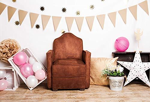 Fondo de fotografía Globo Fiesta de cumpleaños Baby Shower Pastel niño Retrato telón de Fondo Accesorios de Estudio fotográfico A9 10x10ft / 3x3m