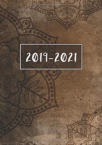 2019 - 2021: Comienza con semana 27 | Julio 2019 - Junio 2021 | Vista Semanal | 1 Semana en 1 Página | 24 Meses Calendario Planificador | A5 Planner | Vintage Mandala