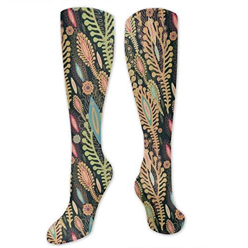 Liliylove Microlife calcetines de compresión hasta la rodilla, calcetines largos deportivos atléticos, mejores calcetines médicos, para senderismo, correr, viajes y vuelos, para hombres y mujeres