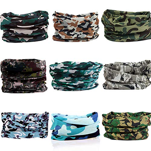 Windproof Seamless Skull Face Mask Bandana for Riding Cycling Motorcycle Multifunctional Headwear-Camouflage Color 3
