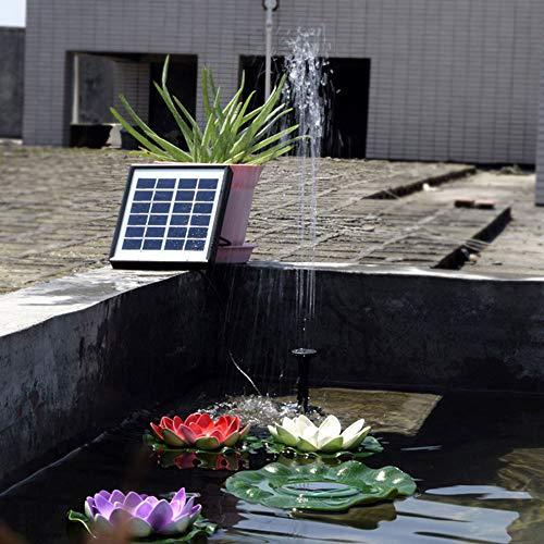 lynn Solarbetriebener Brunnen für den Außenbereich, Gartenteich, Tauchpumpe, Pool