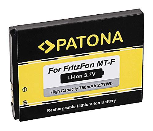 PATONA Ersatzakku Akku für AVM Fritz!Fon MT-F C5 C4 M2 ACCU mit 750mAh Li-ion