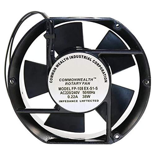 Daojun Foy Ajuste axial del Ventilador FP-108EX-S1-B 220V 38W con Doble cojinete de Ventilador de refrigeración del óvalo 172X150X51mm (Color : Black)
