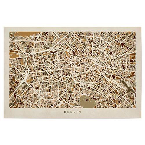 artboxONE Poster 90x60 cm Städte/Berlin Berlin Germany Street Map - Bild Berlin map map of Berlin Berlin