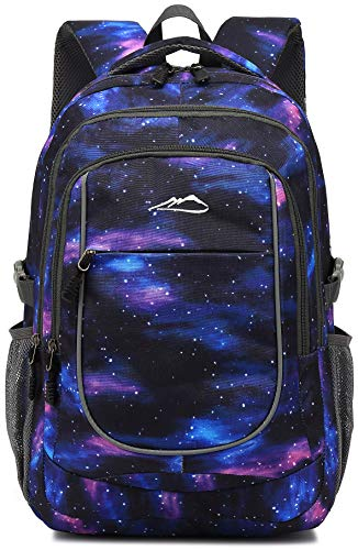 Backpack Bookbag for School College Student Travel Business Hiking Fit Laptop Up to 15.6 Inch (Galaxy C)