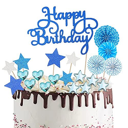 Happy Birthday Cake Topper 21 Pezzi Compleanno Torta Topper Topper Torta Decorazione Torta di Compleanno Decorazioni Torta Cupcake Topper Buon Compleanno Torta Compleanno Party Decorations