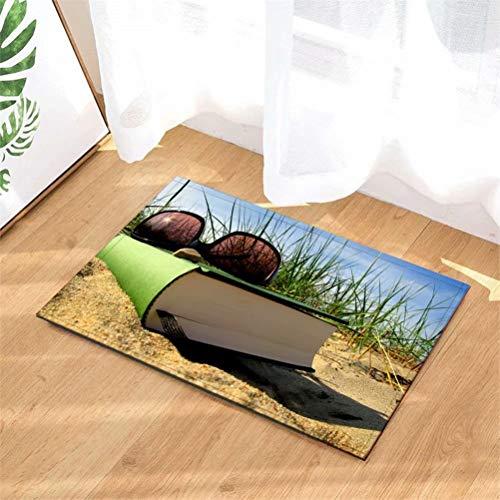 N-brand Alfombra de Puerta Alfombra Interior/Puerta de Entrada/Ducha Alfombras de Entrada de baño Alfombras Felpudo, Entradas de Piso, 40 x 60 cm.Gafas De Sol En Los Libros.