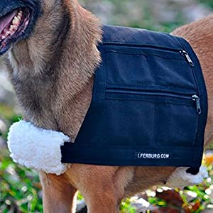 """Measurements Small: Girth 22"""" - 24"""" , Medium: Girth 27"""" - 31"""", Large: Girth 34"""" - 36"""" Please refer to sizing chart The weighted vest was designed with safety of the dog in mind Double stitched and backed with heavy cordura denier fabric"""