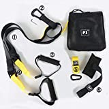 ZEIGER Bodyweight Resistance Trainer Kit, Complete Home Gym Indoor Outdoor Fitness Build Muscle Burn Fat Improve Cardio Full-Body Workout Easy Setup Gym Home Black Yellow